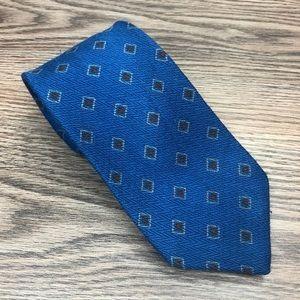 Robert Talbott Blue w/ Brown & Blue Check Tie